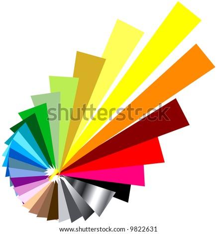 exploding vector color wheel - stock vector