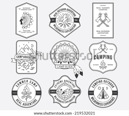 Exploration vector badges and labels for any use - stock vector