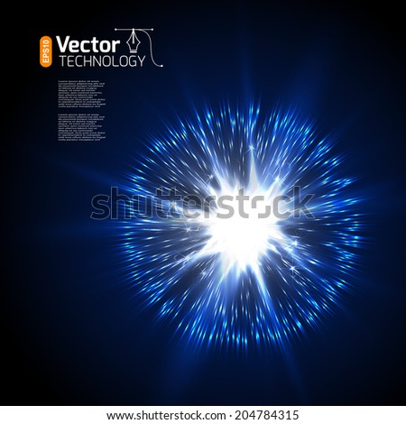 Explosion and discharge, vector - stock vector