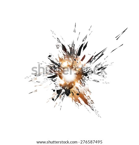 explosion background, easy all editable  - stock vector