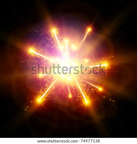 Explosion / Big Bang - stock vector