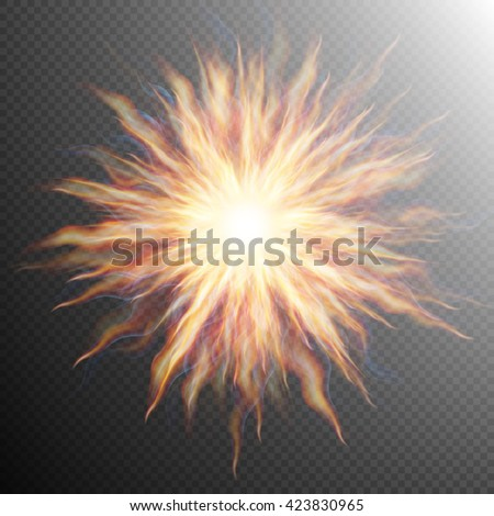 Explosion, big bang, fire burst. EPS 10 vector file included - stock vector