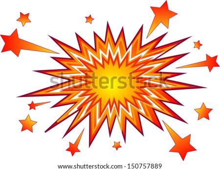 Explosion, Bursting. Vector Illustration - stock vector