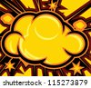 Explosion (Comic Book Explosion Background) - stock vector