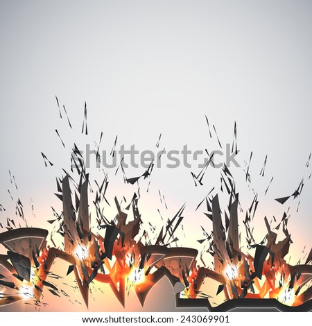 explosion, grunge color style background - stock vector