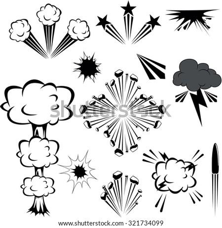 Explosion illustration - stock vector