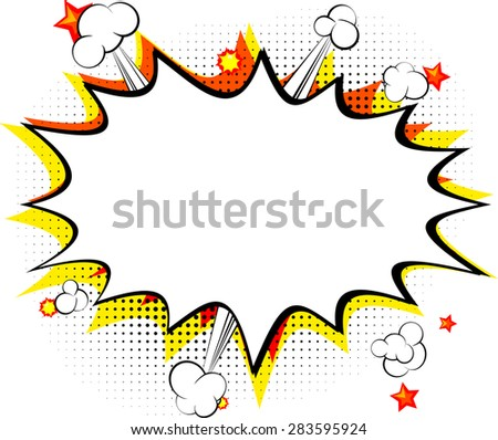 Explosion Isolated Retro Style Comic Book Background