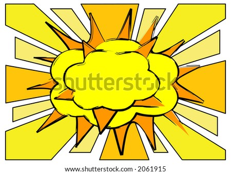 Explosion with place for text. - stock vector