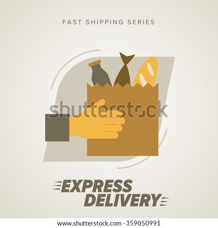Express Delivery Icon, Food Delivery. Express Delivery Food. Delivery service. Symbol of Food Delivery. Delivery Vector Icon. Delivery, Shipping Service, Delivery Sign. Food. - stock vector