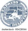 Express delivery stamp - stock vector
