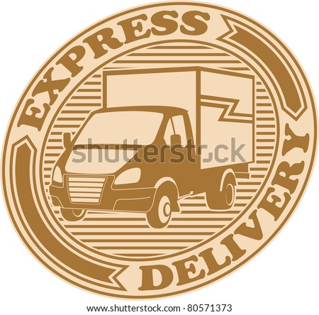 Express delivery symbol - stock vector