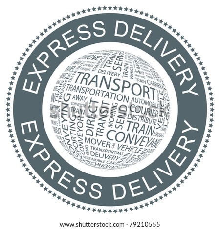 Express delivery. Vector illustration for sale. - stock vector