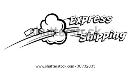 express shipping vector icon. Ideal for delivery and courier usage - stock vector