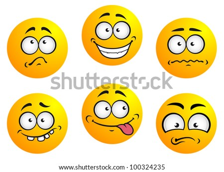 Expression icons and smiles. Jpeg version also available in gallery - stock vector