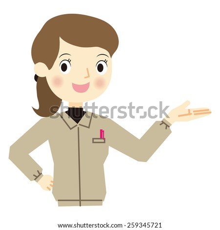 Expression of woman worker - stock vector