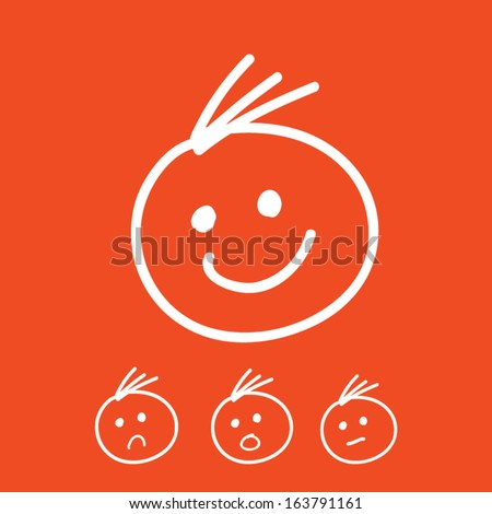 Expressions Doodle - stock vector