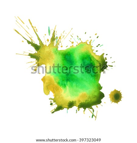 Expressive watercolor stain splash background,colorful paint drops texture
