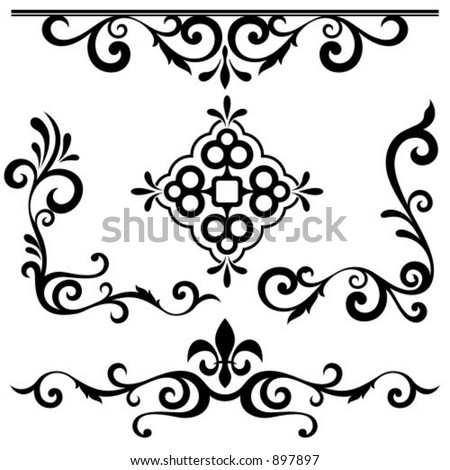 Exquisite Ornamental Designs Pack. - stock vector