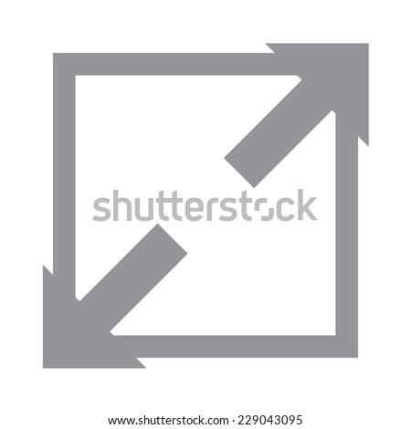 Extend, Re-size, Enlarge.Vector illustration - stock vector