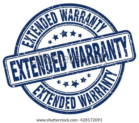 extended warranty blue grunge round vintage rubber stamp.extended warranty stamp.extended warranty round stamp.extended warranty grunge stamp.extended warranty.extended warranty vintage stamp. - stock vector
