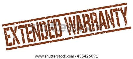 extended warranty stamp.stamp.sign.extended.warranty. - stock vector
