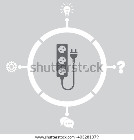 Extension cord Icon. - stock vector