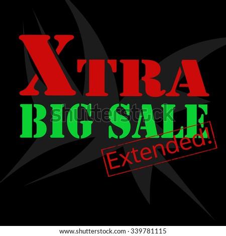 Extra Big Sale-conceptual background,vector illustration - stock vector