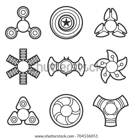 fidget spinner coloring pages - extra style hand fidget spinner toy stock vector 704536051