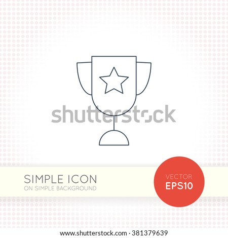 Extra thin line design vector universal goblet icon. AI illustration element for user interface of website or application. Eps with simple goblet object isolated on white background.