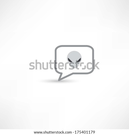 extraterrestrial in a bubble speech - stock vector