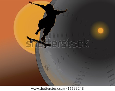 extreme jumping - stock vector