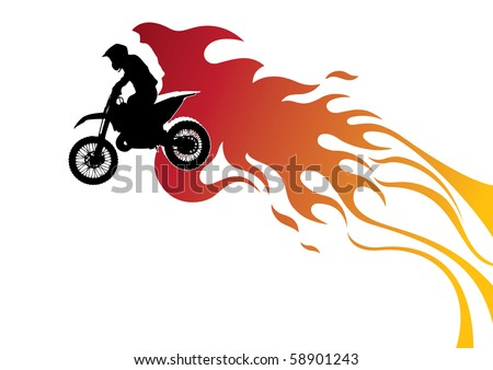 Extreme motor cycling stylized banner. Vector illustration. - stock vector