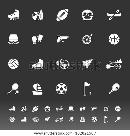 Extreme sport icons on gray background, stock vector - stock vector