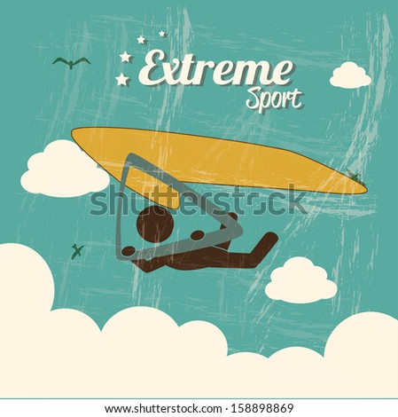 extreme sport over background vector illustration - stock vector