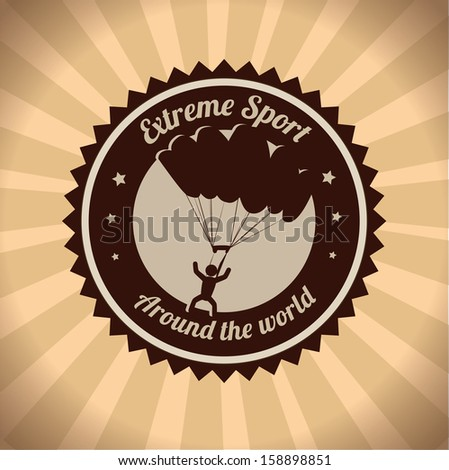 extreme sport over  grunge background vector illustration - stock vector