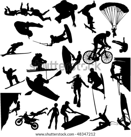 extreme sport 1 - vector - stock vector
