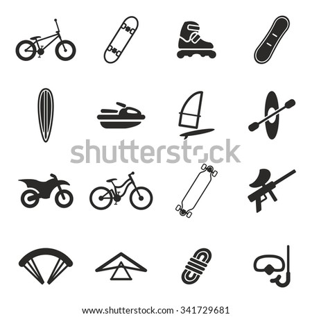 Extreme Sports Icons  - stock vector