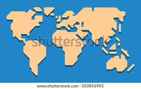 Extremely simplified world map only 0 stock vector 503856901 extremely simplified world map with only 0 90 and 45 deg lines used rounded gumiabroncs