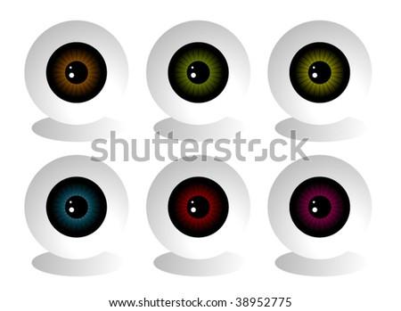 Eye balls vector - stock vector