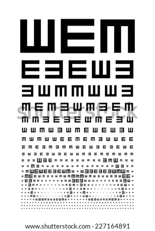 Eye chart concept with glasses. Eps8. RGB. Global color. Gradients free.
