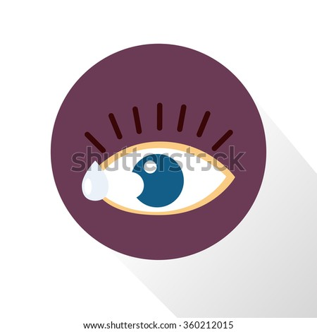 Eye drops color icon