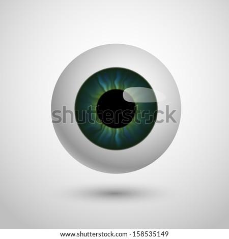 Eye, eps10 vector - stock vector