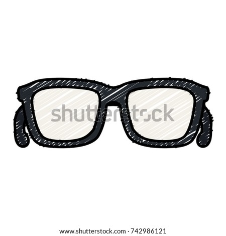 eye glasses isolated icon