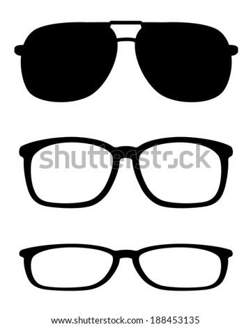 Eye Glasses Set - Vector - stock vector
