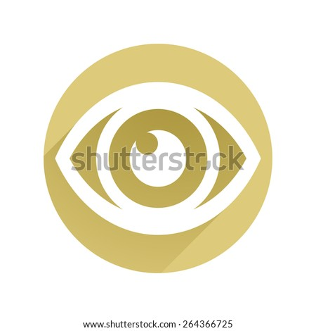 Eye icon flat  - stock vector