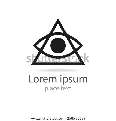 eye - icon template for logo design  - stock vector