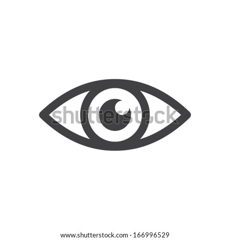 Eye icon - vector - stock vector