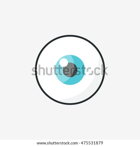 eye icon. vector illustration