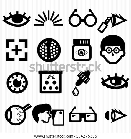 Eye icons - stock vector