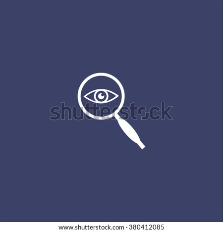 eye in magnification - vector icon